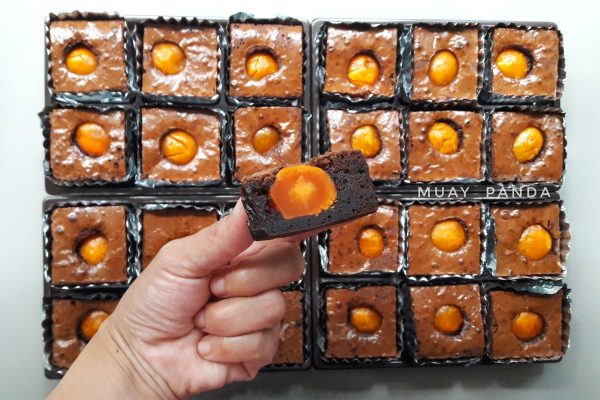 Salted Egg Brownies