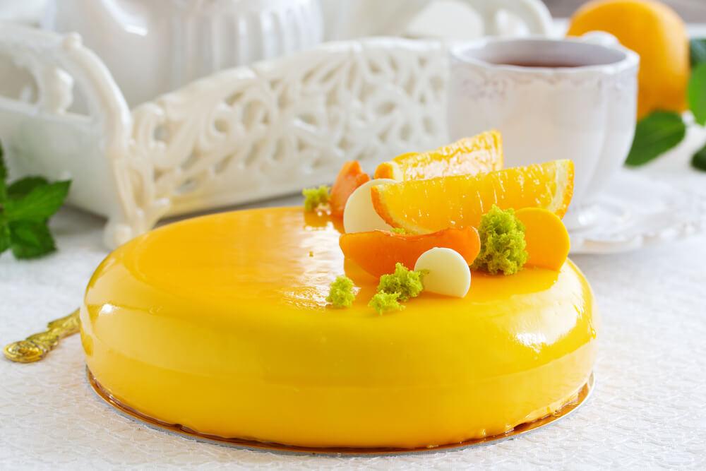 Yogurt Mousse Orange cake