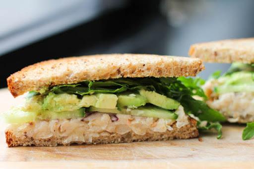 White Bean Avocado Sandwich